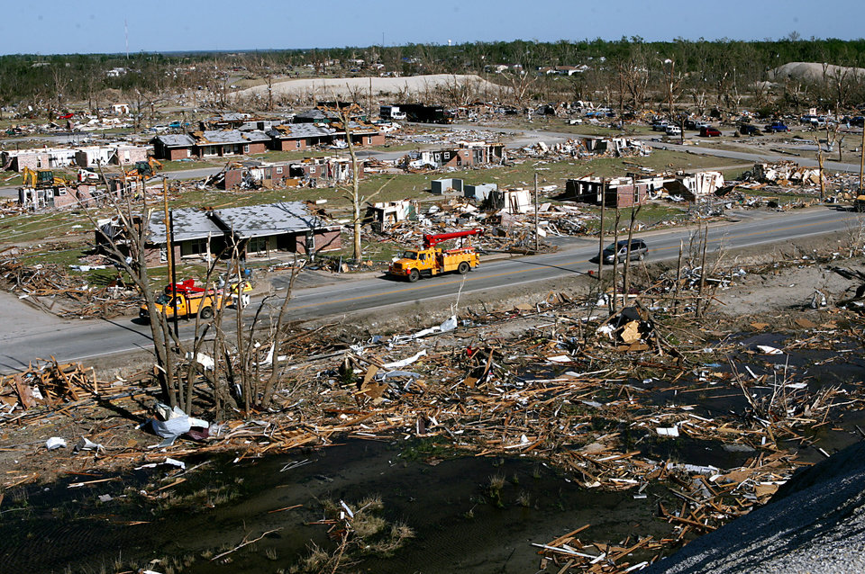 Photo - TORNADO DAMAGE: A scene of destruction in Picher, Okla., on Monday, May,12, 2008, following a tornado that hit the area on Saturday. By John Clanton, The Oklahoman ORG XMIT: KOD
