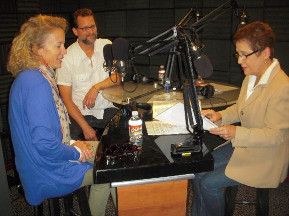 "From left, Kamala Gamble and Kurt Fleischfresser join host Gerry Bonds on ""The Living with Gerry Bonds"" radio program. - Provided Photo"