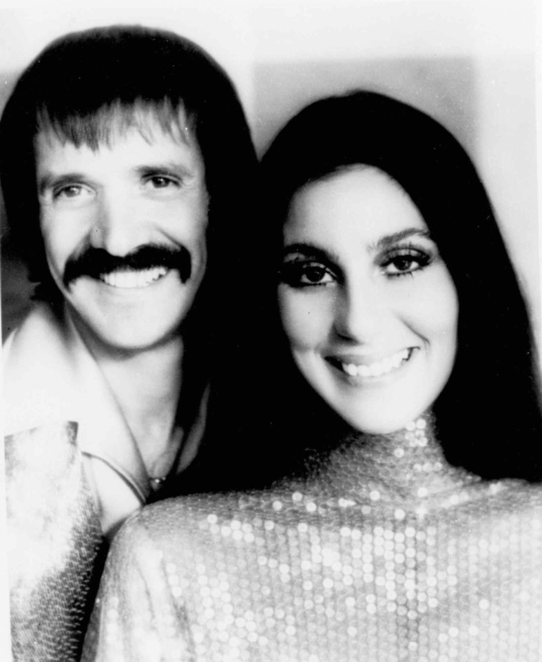 Photo - FILE-- Sonny Bono and Cher are shown in an undated photo. Bono, a 1960s pop star-turned-politician, was killed in an apparent skiing accident Monday, Jan. 5, 1998, at the Heavenly Ski Resort at Lake Tahoe, Calif. He was 62. (AP Photo/File)