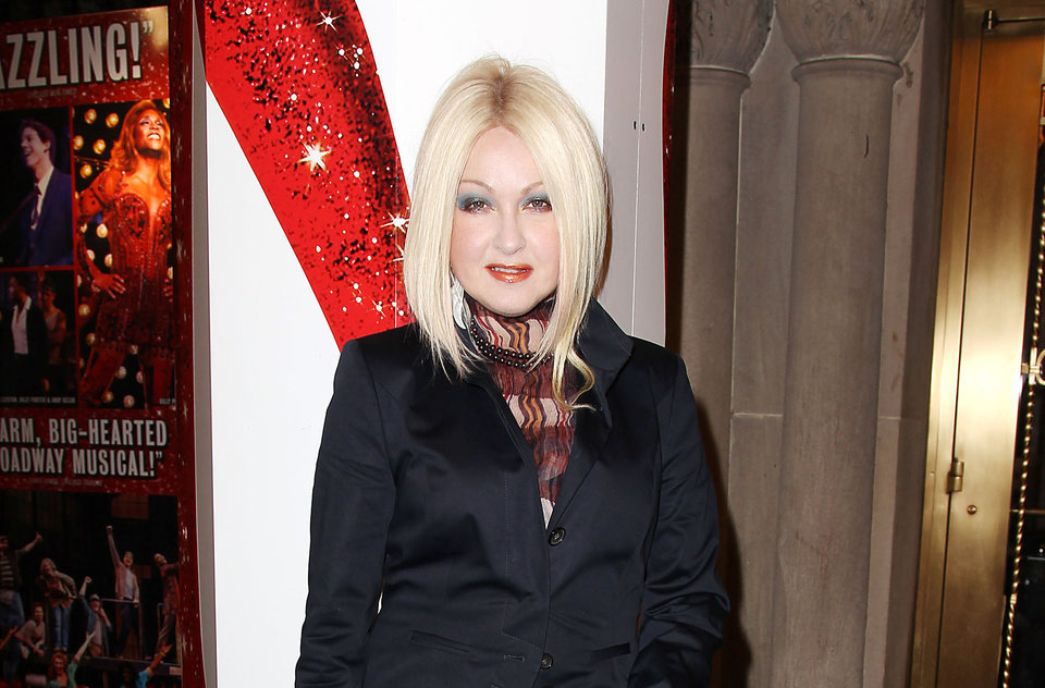 Photo - This Feb. 28, 2013 photo released by Starpix shows, Cyndi Lauper at the open house for the Upcoming Musical