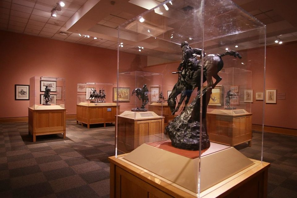 Photo - Works by Frederic Remington are on view in the National Cowboy & Western Heritage Museum's newly remodeled Atherton Gallery on September 12, 2020. [Doug Hoke/The Oklahoman]