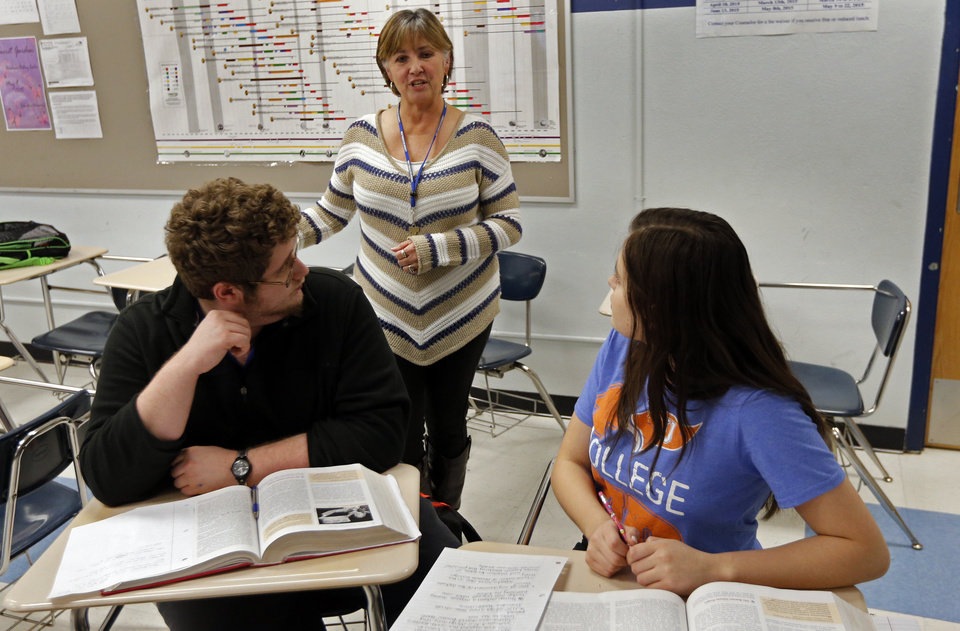 Photo - Belinda Wall teaches Advance Placement History at Southeast High School on Wednesday, Feb. 18, 2015 in Oklahoma City, Okla.  Photo by Steve Sisney, The Oklahoman