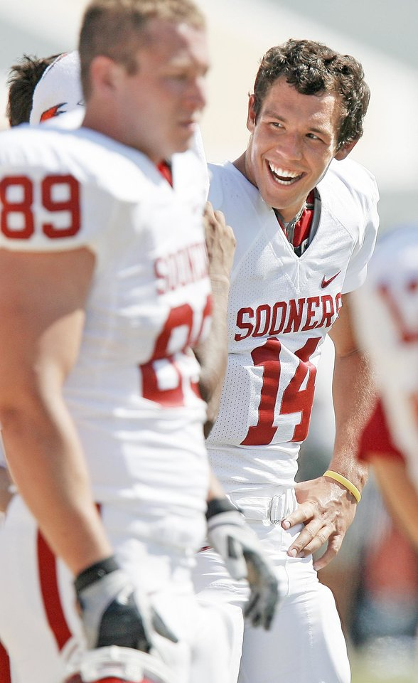 Photo - OU's Sam Bradford is looking to make up some ground.Photo by Bryan Terry, The Oklahoman