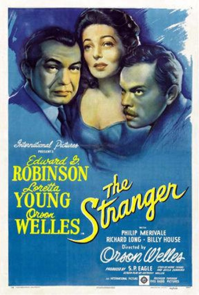"A movie poster for Orson Welles' 1946 film ""The Stranger.""   Photo provided <strong>Photo provided</strong>"