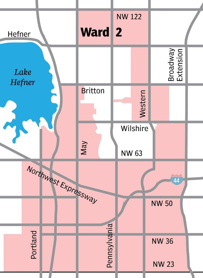 Photo - This map shows areas of Oklahoma City included in Ward 2. [TODD PENDLETON/THE OKLAHOMAN GRAPHICS]
