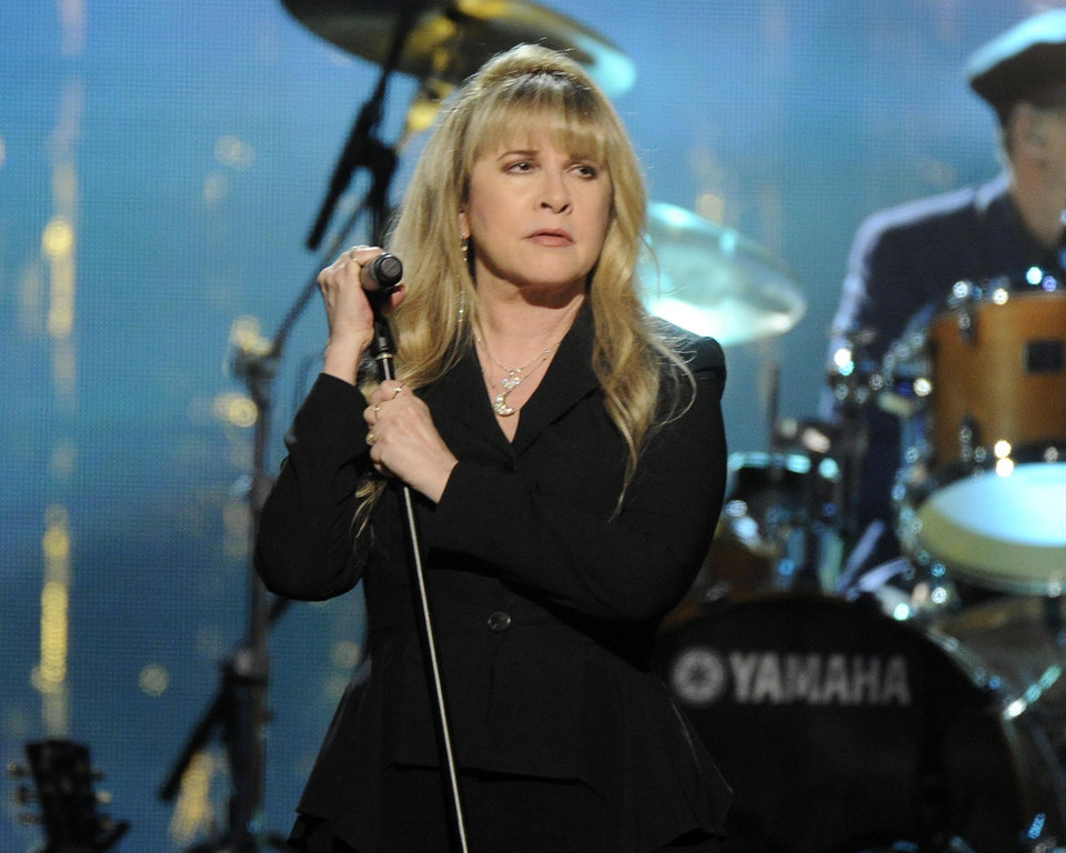 Photo - Stevie Nicks performs at the 2014 Rock and Roll Hall of Fame Induction Ceremony on Thursday, April, 10, 2014 in New York. (Photo by Charles Sykes/Invision/AP)
