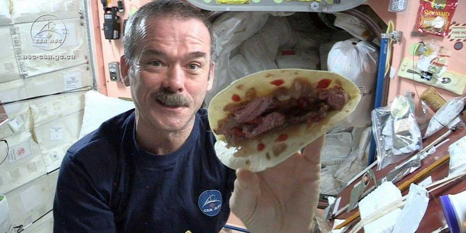Video here 39 s why food tastes different in space news ok for Food bar hadfield