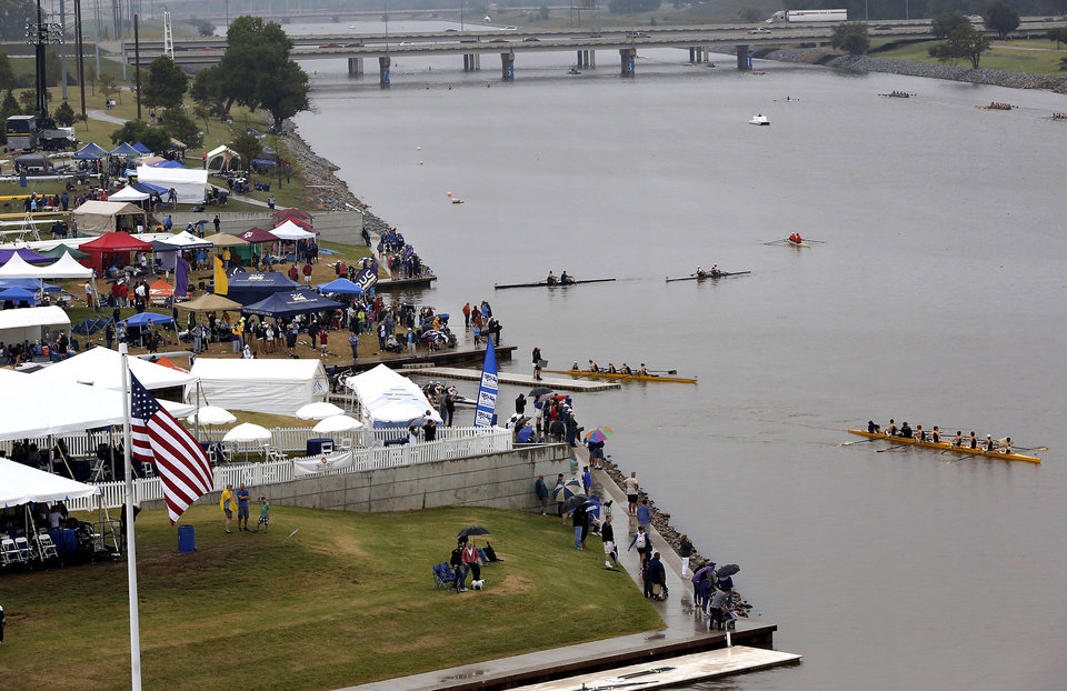 Photo - Regatta Festival on the Oklahoma River in the Boat District,  Saturday,  Sep. 29, 2012. The event ends Sunday. Photo by Jim Beckel, The Oklahoman.