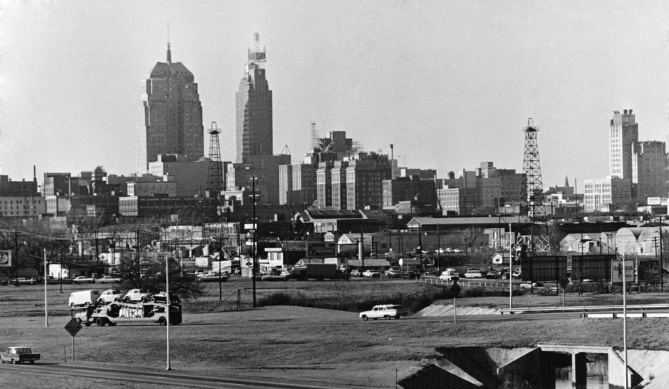 OKLAHOMA CITY / SKY LINE / OKLAHOMA:  No caption.  Photo undated and unpublished.  Photo arrived in library 05/24/1972.