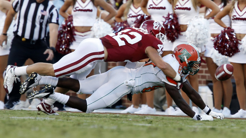 during the first half of the college football game between the University of Oklahoma Sooners (OU) and Florida A&M Rattlers at Gaylord Family�Oklahoma Memorial Stadium in Norman, Okla., Saturday, Sept. 8, 2012. Photo by Steve Sisney, The Oklahoman