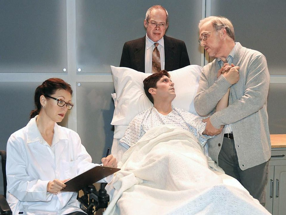 Clockwise from left, Stacey Logan, Michael Jones, Jonathan Beck Reed and Matthew Alvin Brown star in the Oklahoma City Repertory Theatre production of �The Normal Heart.�  Photo by  Wendy Mutz,  for The Oklahoman