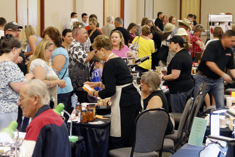 Photo -  Thousands turned out for the Made in Oklahoma festival at the Reed Conference Center in Midwest City. Photo by Paul Hellstern, The Oklahoman   PAUL HELLSTERN -
