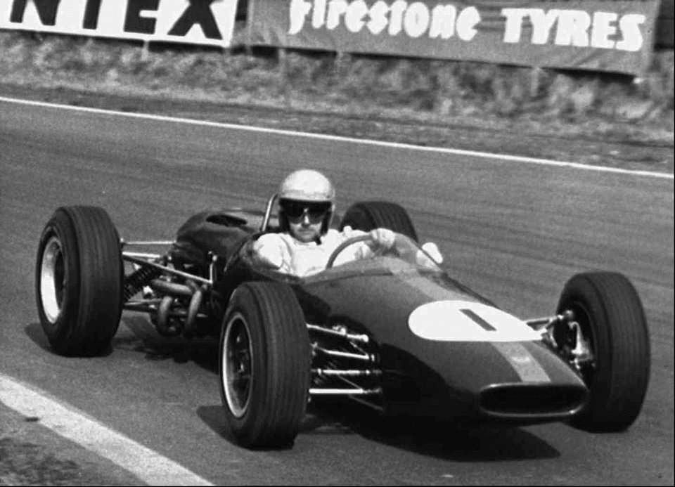 Photo - In this April 3, 1965 file photo Australian racing driver Jack Brabham competes at Oulton Park, in Cheshire, England.  Three-time Formula One champion Brabham died early Monday, May 19, 2014, at his home on the Gold Coast, the Australian Grand Prix Corporation said. He was 88. (AP Photo/File)