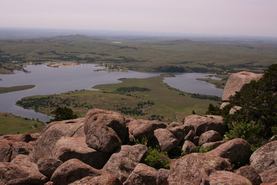 View from Mt. Scott, Oklahoma.<br/><b>Community Photo By:</b> Billy Sparks<br/><b>Submitted By:</b> Billy, Choctaw