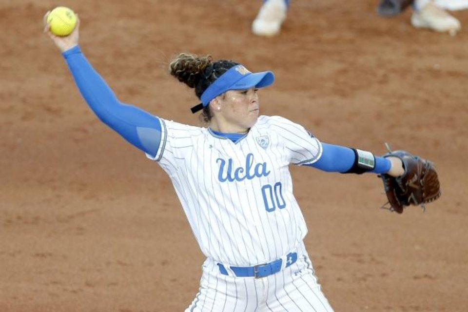 Photo -  Rachel Garcia is one of three Olympians returning to their college teams next year. The UCLA pitcher led the Bruins to the 2019 title and will headline a stacked group of seniors returning to the sport after the coronavirus shutdown. [BRYAN TERRY/THE OKLAHOMAN]