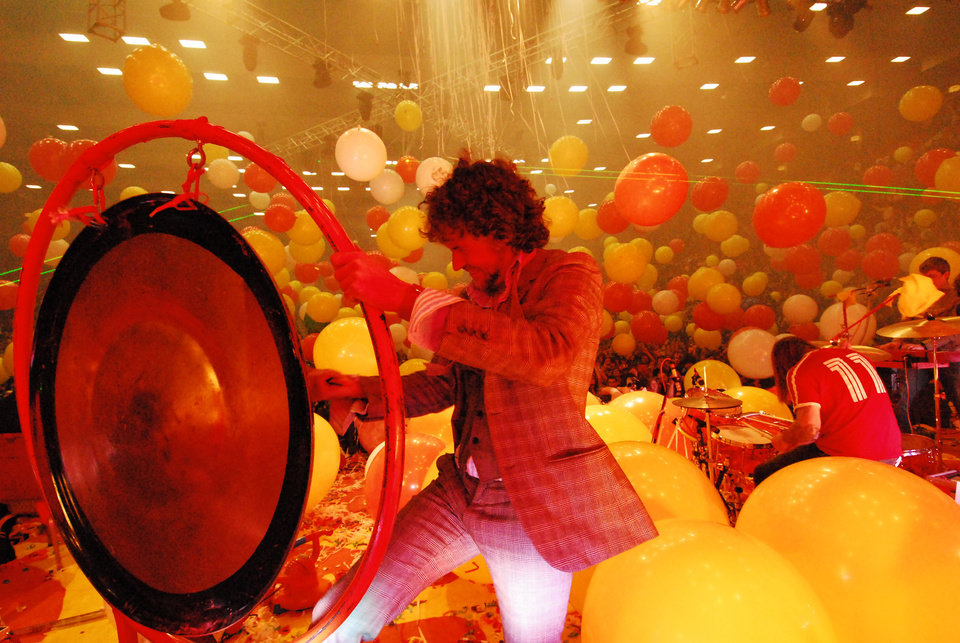 Photo - Wayne Coyne of The Flaming Lips. Photo by J. Michelle Martin Coyne ORG XMIT: 0812261519283579