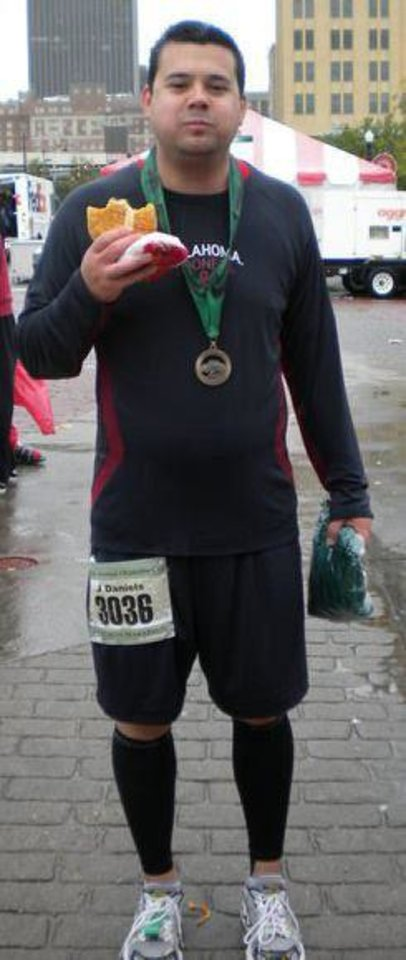 Photo - Justin Daniels after the 2011 Oklahoma City Memorial Marathon.