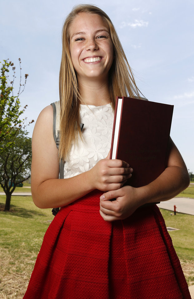 Photo -  Abby Hammons was admitted into to OU's occupational therapy program through an early admittance option. Photo by Nate Billings, The Oklahoman      -