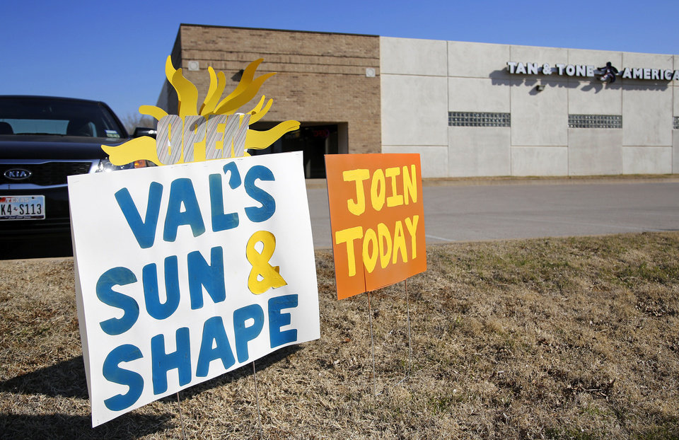 Valerie Carter, former manager of Tan & Tone America in Moore, opened her new business, Val�s Sun & Shape at 101 N Eastern in Moore.