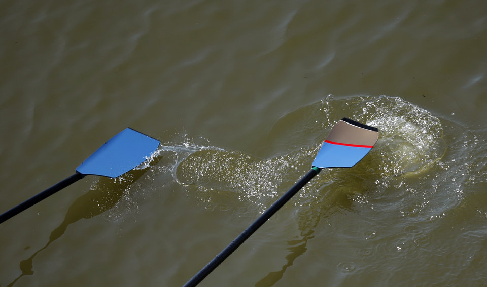 Oars are pictured USRowing Masters National Championships on the Oklahoma River, Sunday, Aug. 14, 2011. Photo by Sarah Phipps, The Oklahoman