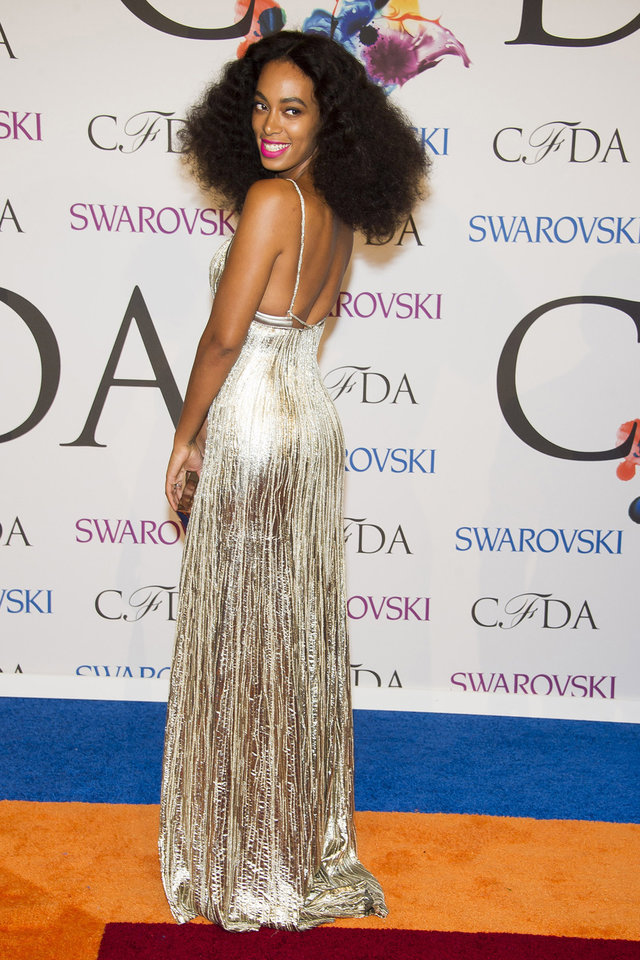 Photo - Solange Knowles attends the CFDA Fashion Awards on Monday, June 2, 2014 in New York. (Photo by Charles Sykes/Invision/AP)
