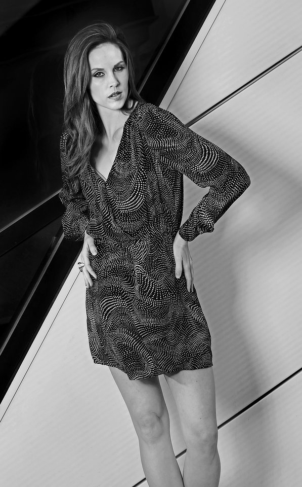 Black and white mini dress by Parker and Trina Turk ring from On a Whim. Makeup by Natasha Shipley, Sooo Lilly Cosmetics. Photo by Chris Landsberger, The Oklahoman <strong>CHRIS LANDSBERGER - CHRIS LANDSBERGER</strong>