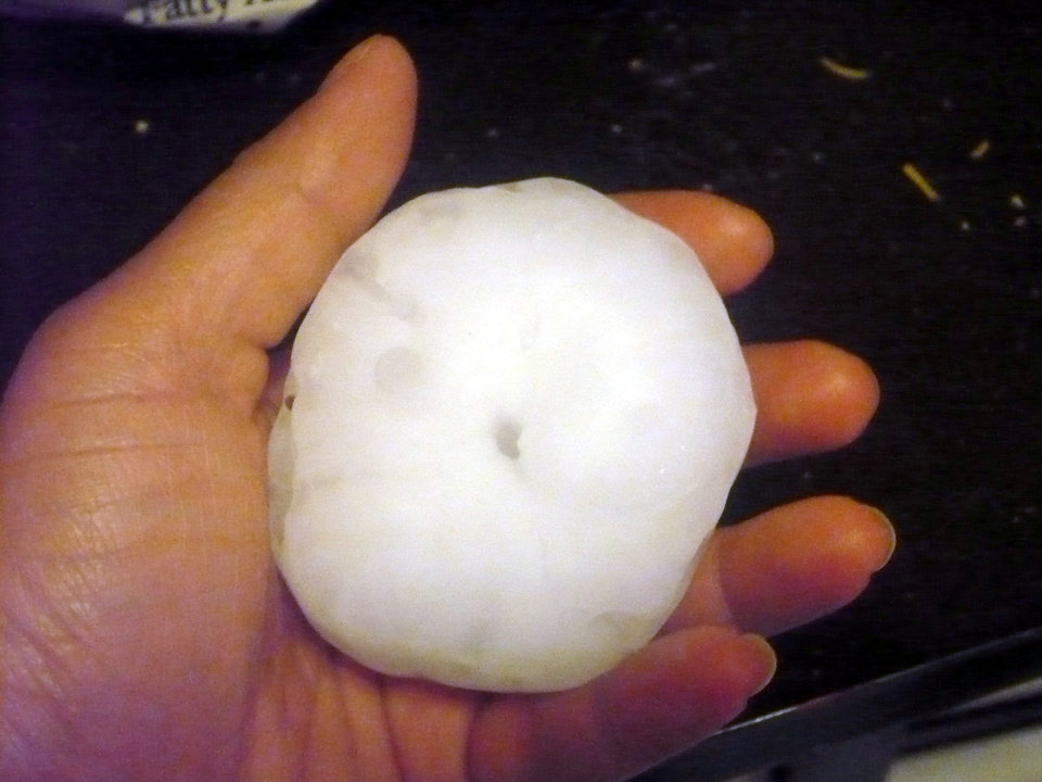 Photo - Hail found in Yukon by April Parks-Powers.