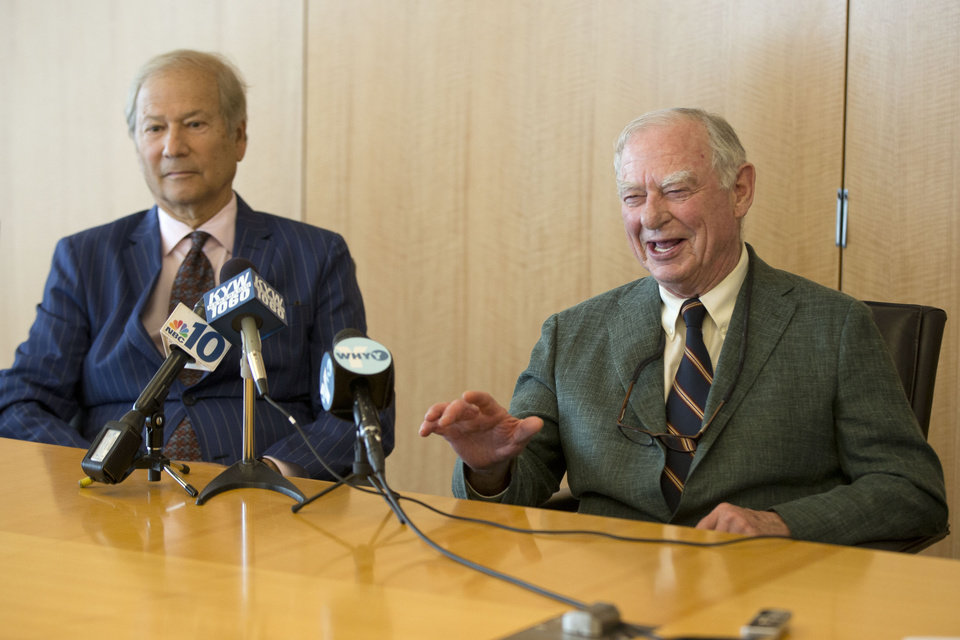 Photo - Businessman Lewis Katz, left, and philanthropist H.G.