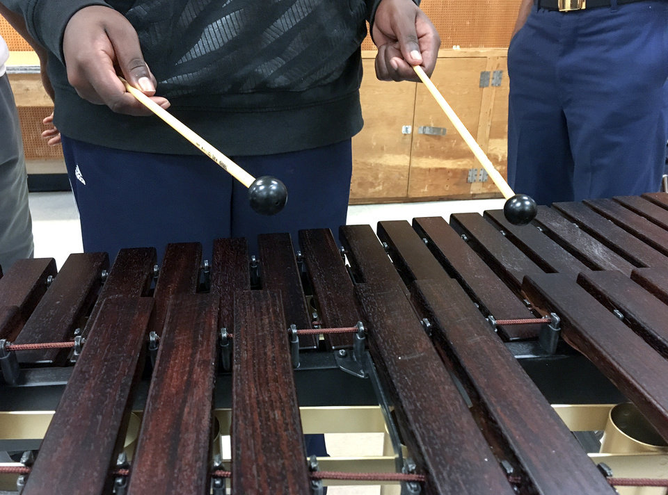 Photo -  New instruments arrived at Star Spencer High School after an anonymous donor contributed $5,000 to The Foundation for Oklahoma City Public Schools. [PHOTO PROVIDED]