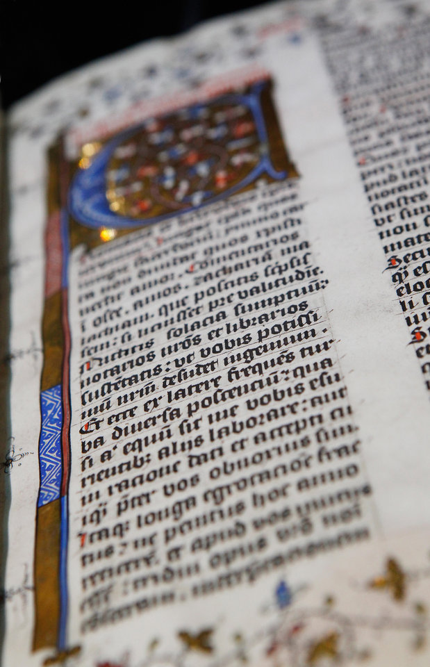 Next week, visitors to the Oklahoma City Museum of Art will have the opportunity to view the world premiere of the traveling exhibition of rare biblical texts and assorted artifacts in an interactive, multimedia exhibit called Passages.  The 14.000 square foot exhibit celebrates the 400th anniversary of the King James Bible and it features nearly 300 objects  from the Green Collection, one of the world's largest private collections of rare biblical texts and artifacts.  Members of the media were given a preview on Friday, May 13,  2011,   Photo by Jim Beckel, The Oklahoman
