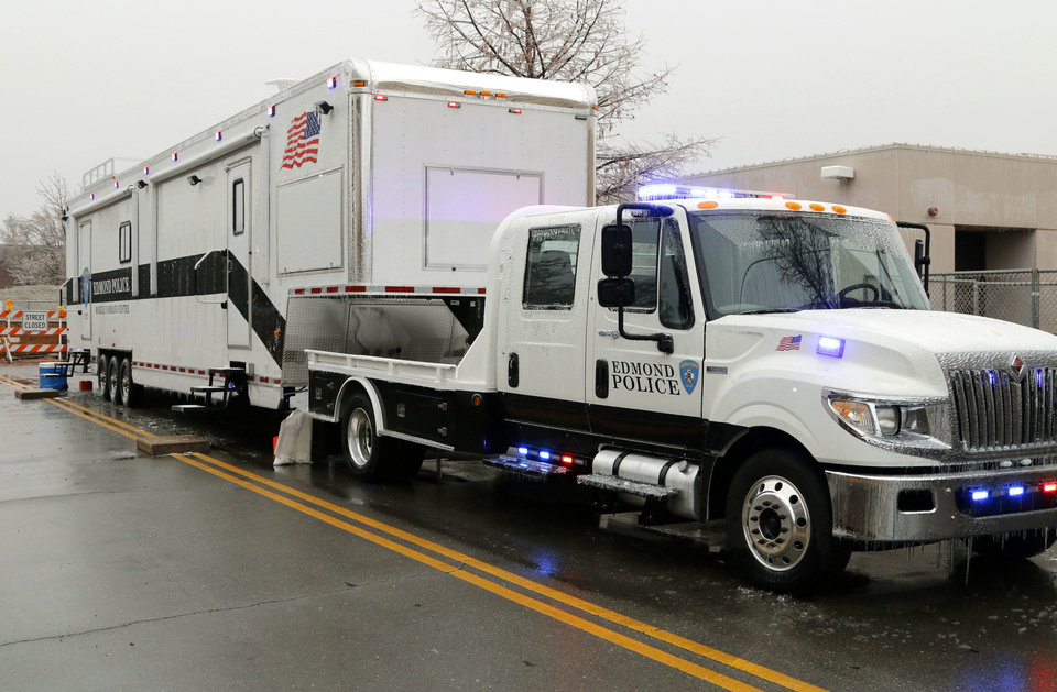 Photo - This Edmond Police Department's new mobile command center is equipped with computers and communications gear. Photo by Paul Hellstern, The Oklahoman  PAUL HELLSTERN - Oklahoman
