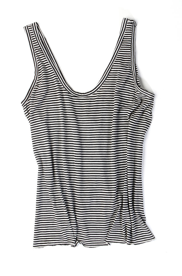 This tank top from The Reformation in Los Angeles, $75.00, can be part of an eco fashion makeover. (Kirk McKoy/Los Angeles Times/MCT)