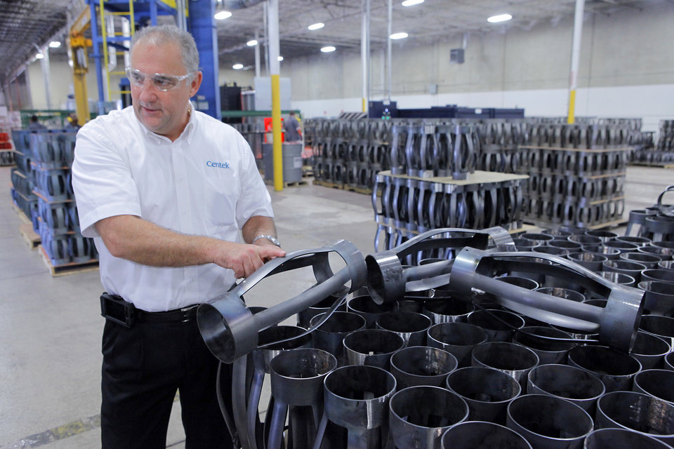 Photo - Vice President Cliff Berry talks about their product during the tour of the new British manufacturer Centek which is opening its North American headquarters in Oklahoma City next week, Wednesday, September 11, 2012. Photo By David McDaniel/The Oklahoman  Jail Accreditation