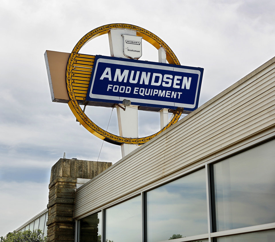 Photo - SIGN / BUILDING EXERIOR: Cary Amundsen inside  his business, Amundsen Food Equipment Co on Main Street , east of Pennsylvania, on Tuesday, June 18, 2013.   For Executive Q & A. Photo  by Jim Beckel, The Oklahoman.