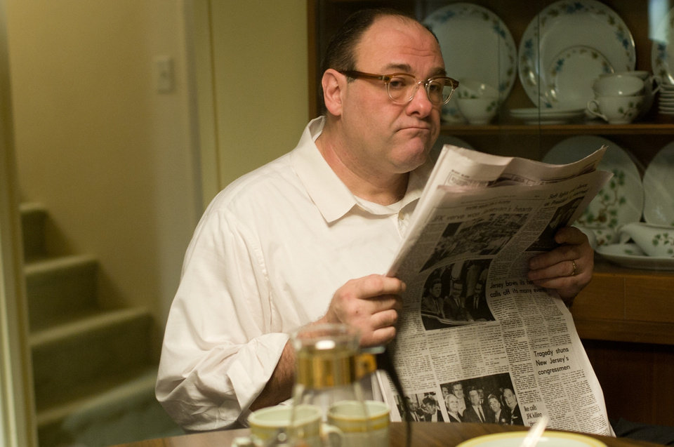 Photo - FILE - This publicity film image released by Paramount Vantage shows James Gandolfini, as Pat, in a scene from the film
