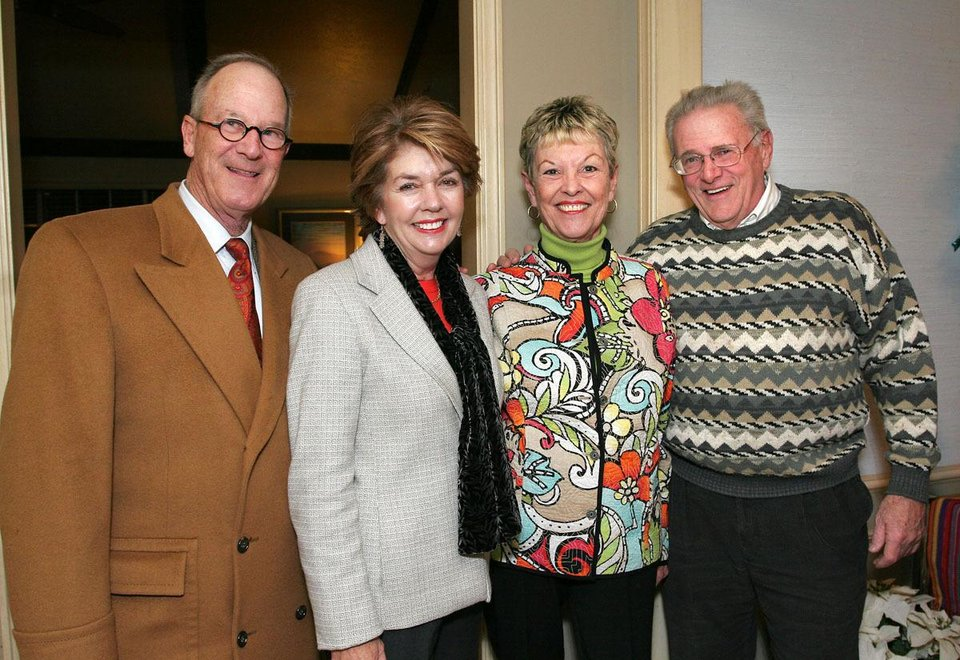 Randy and Sally Royse, Sharon McCown, William Steck. - Photo By David Faytinger,  For The Oklahoman