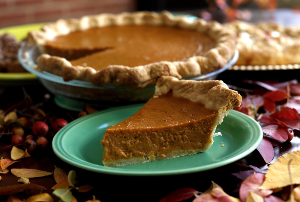 Photo - Pumpkin pie is pictured in Oklahoma City, Thursday, Oct. 31, 2013. Photo by Sarah Phipps, The Oklahoman