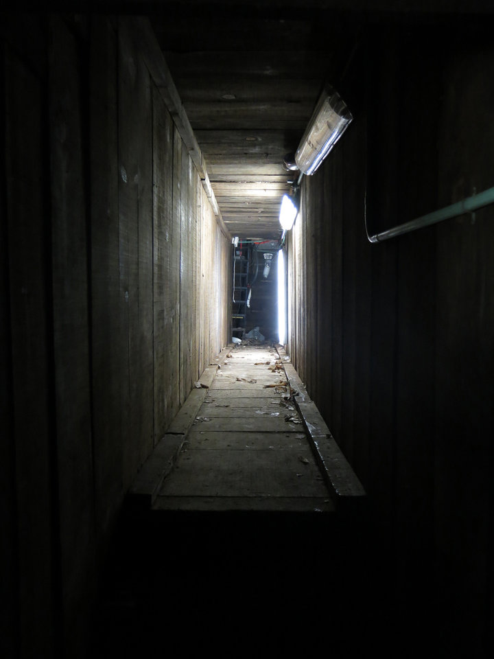 Photo - An interconnected tunnel in the city's drainage system that infamous drug boss Joaquin Guzman Loera,