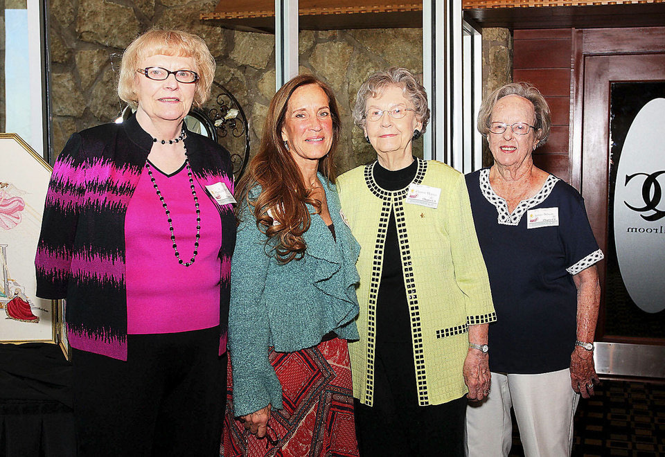 Photo - Marlene Kirsop (50-year member), Carey Steel,  Eleanor Holmes (60-year), Lillian Schaub, (60-year).