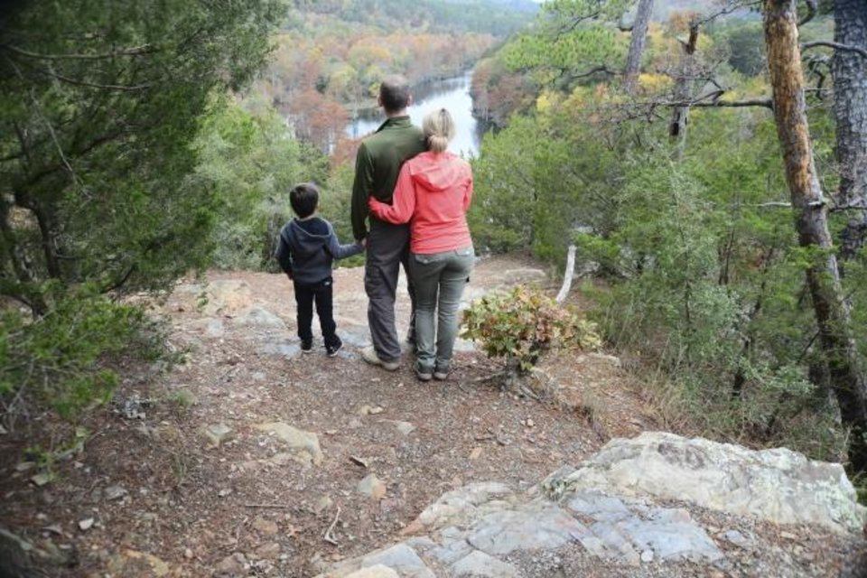 Photo -  Take in the fall foliage at Beavers Bend State Park. [Kim Baker/Oklahoma Tourism]