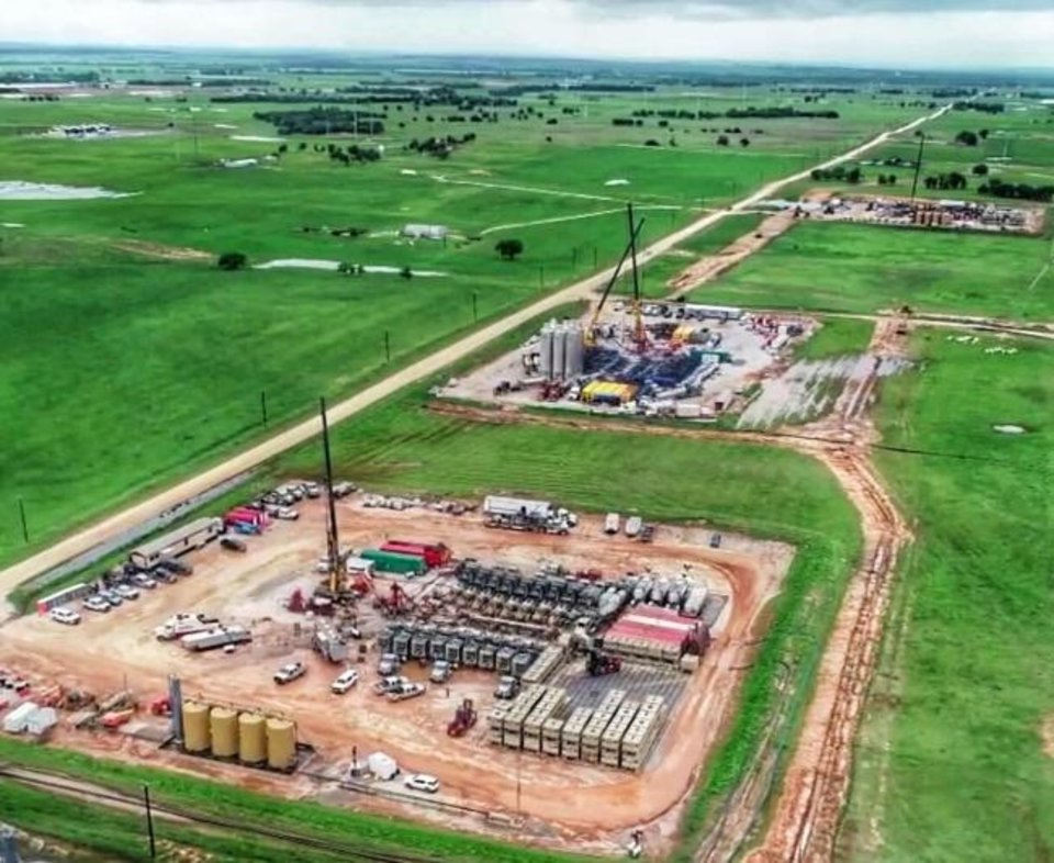 Photo -  Encana drills and completes mutiple wells simultaneously as part of a cube development program it uses to more efficiently develop resources of oil, condensate and natural gas.