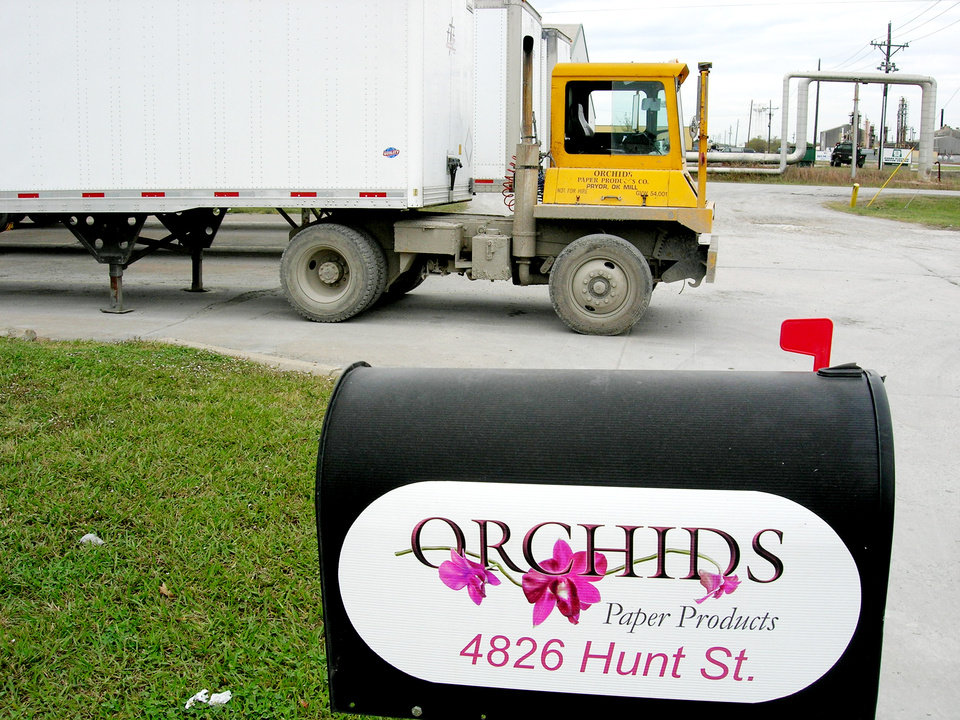 Photo - MAILBOX / TRUCK / ORCHIDS PAPER COMPANY: Orchids Paper Products        Photo by Richard Mize, The Oklahoman ORG XMIT: KOD