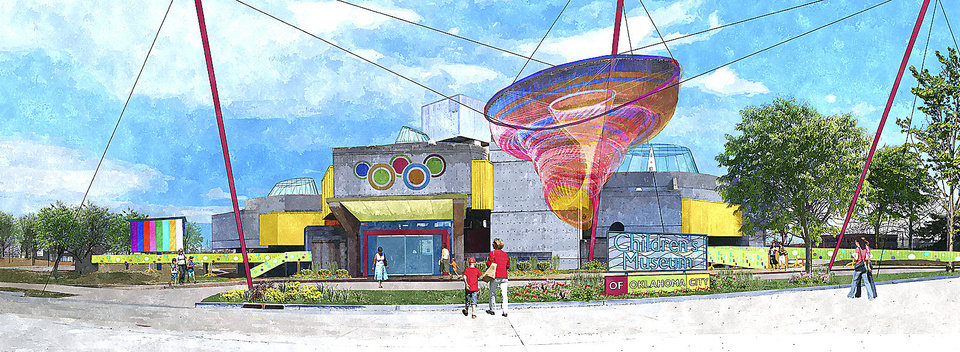 Photo - A proposal to convert Stage Center into a children's museum is shown in this conceptual drawing.Drawing provided by Rees Associates