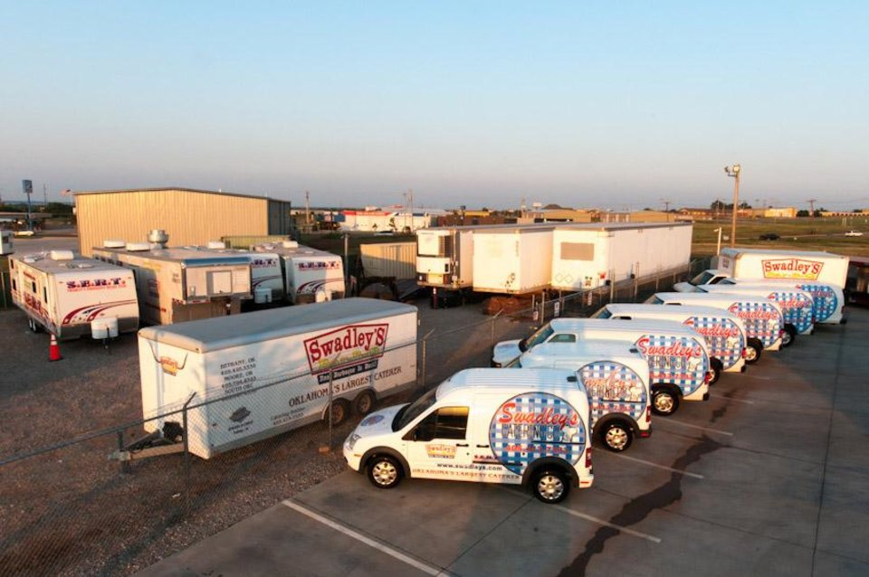 Oklahoma City-based Swadley\'s Catering uses its nine catering vans to deliver meals to oilfield workers throughout Oklahoma and surrounding states. Photo Provided