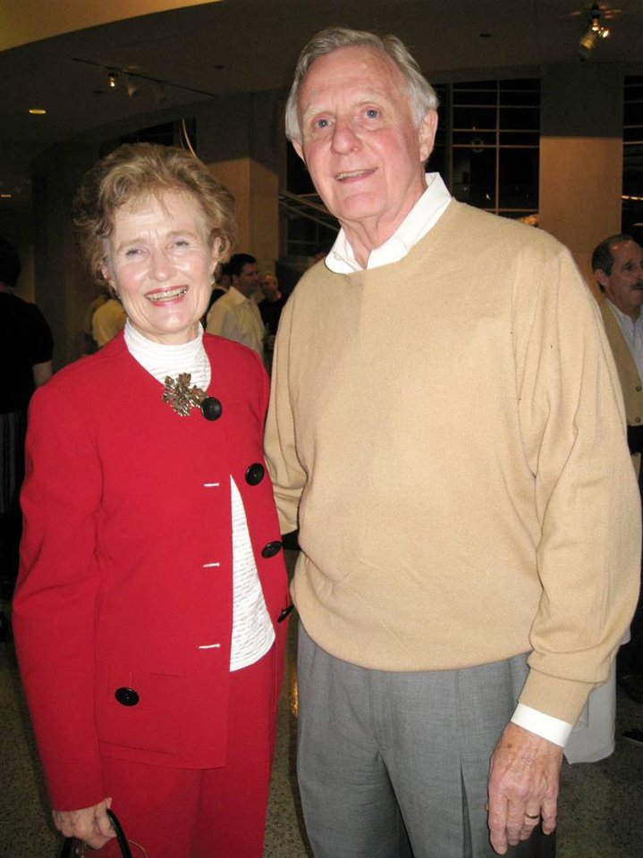 Barbara and Ralph Thompson. - Photo by Helen Ford Wallace, The Oklahoman