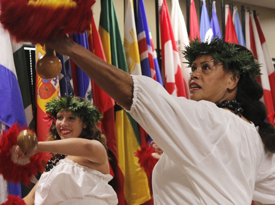 Rwandan Inganji Dancers perform Tuesday at Rose State College. Photo by Silas Allen, The Oklahoman
