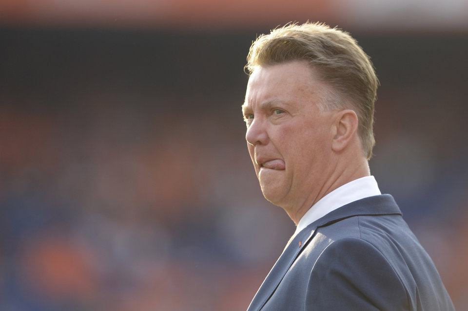 Photo - Netherlands head coach Louis van Gaal is seen prior to the international friendly soccer match between The Netherlands and Ghana at De Kuip stadium in Rotterdam, Netherlands, Saturday, May 31, 2014. (AP photo/Ermindo Armino).