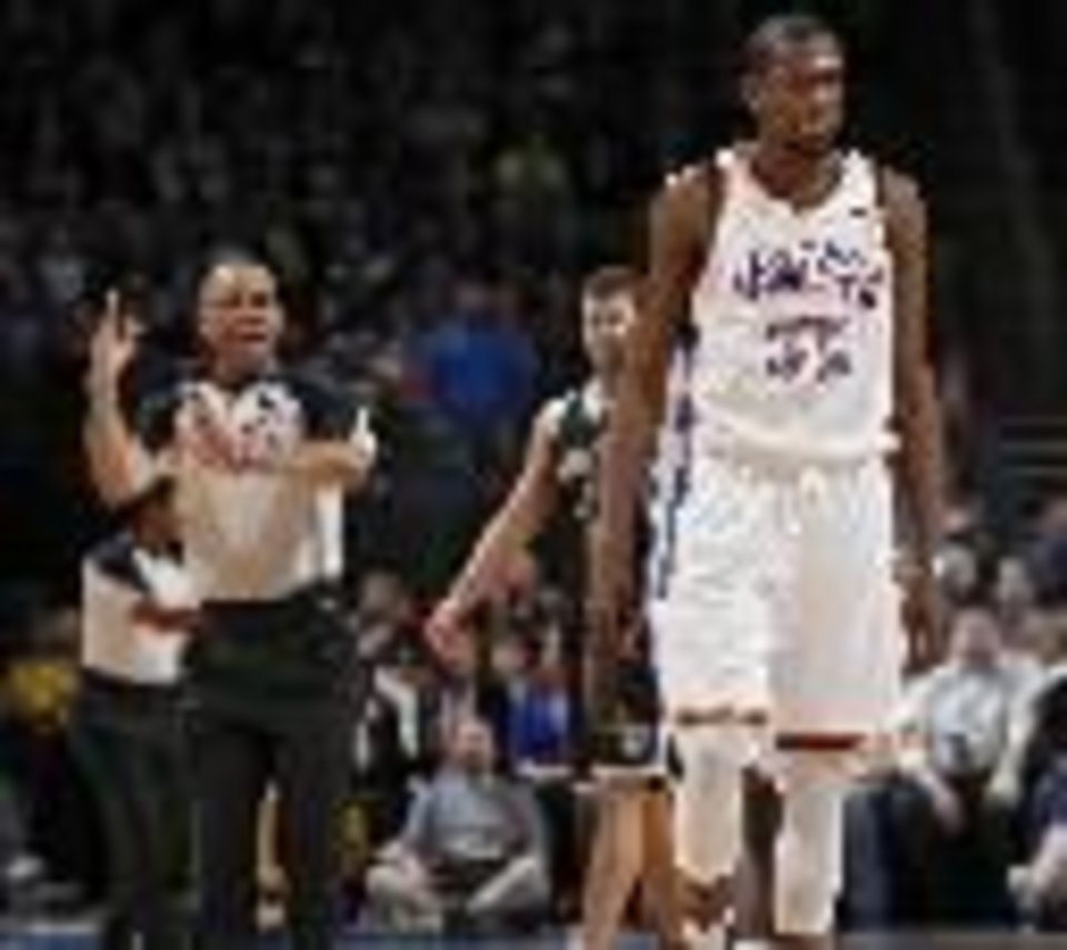 Kevin Durant gets ejected in a Jan. 2 home game against Brooklyn. (Photo by Chris Landsberger, The Oklahoman)