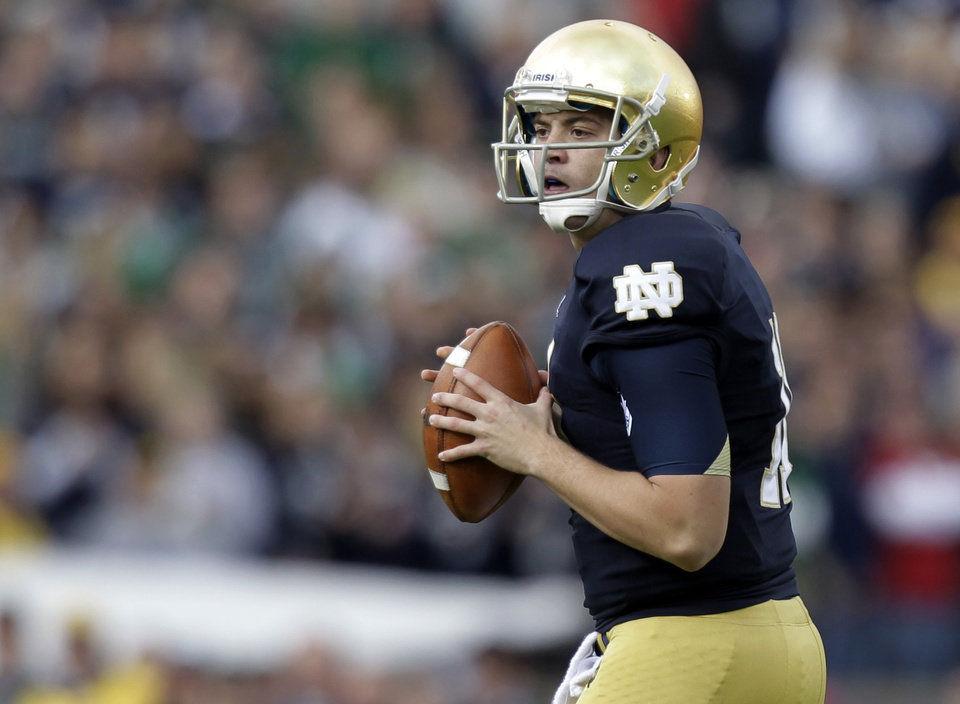 Quarterback Tommy Rees will lead Notre Dame's offense in 2013. AP PHOTO