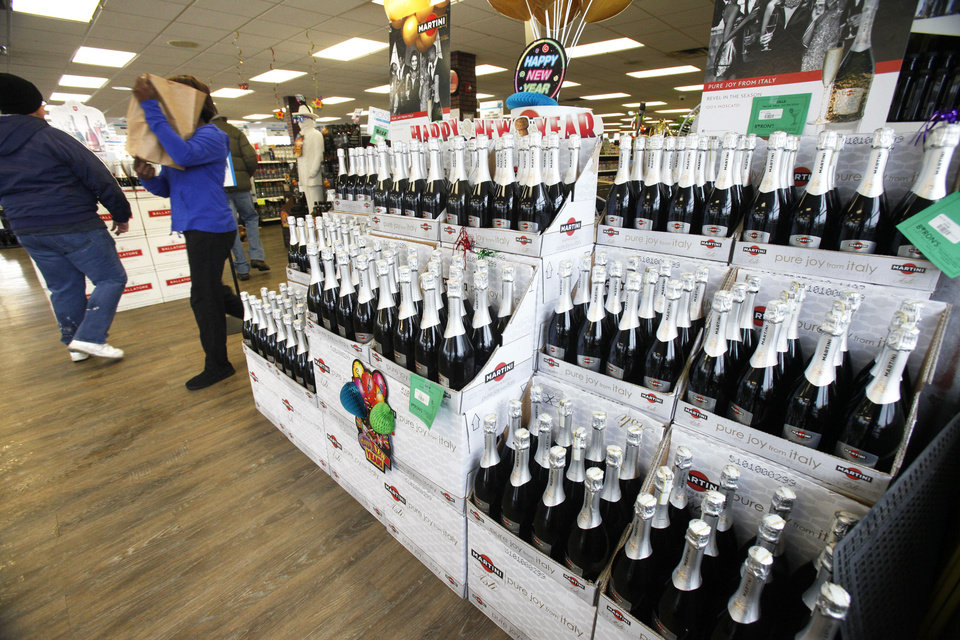 Thousands of bottles of Champagne and sparkling wine will be sold during the next several days at Byron�s Liquor Warehouse in Oklahoma City.